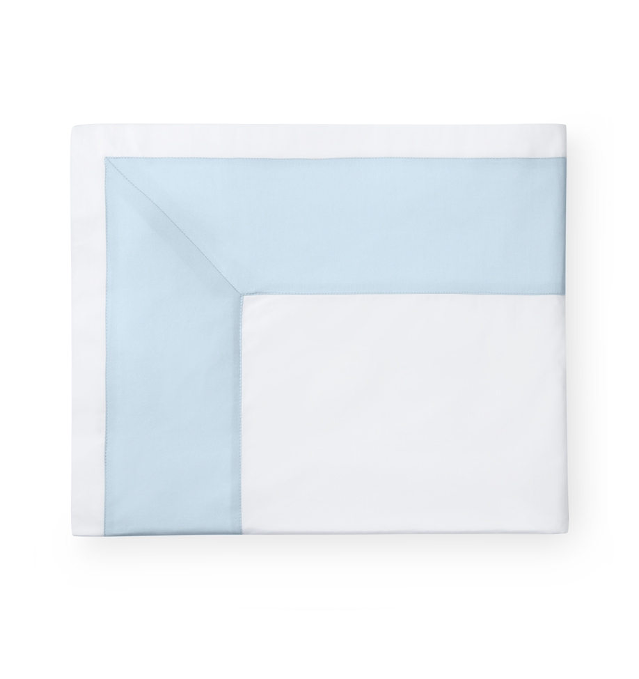 Sferra Casida flat sheet in white & powder